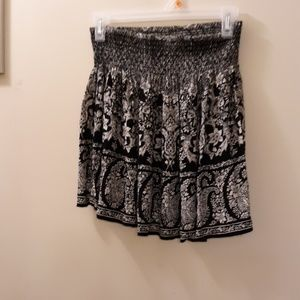 Patrons of Peace Skirts - BLACK AND WHITE MINI SKIRT